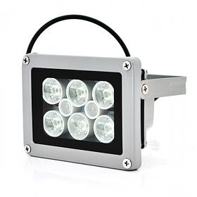 Прожектор уличного освещения YOSO 12V 12W с сумеречным датчиком 6+2 LED IP66 дальность до 30м