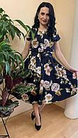 Красивое летнее платье длиной миди