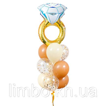 Шары на девичник с фольгированным кольцом, фото 2