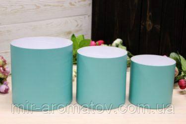 Набір з трьох круглих коробок для квітів без кришок №5