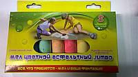 Мелки цветные для асфальта  8шт Мультяшки Jumbo 7412