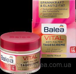 Дневной крем для зрелой кожи лица Balea Vital Anti Falten Tagescreme SPF15  50 мл.