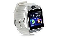Умные смарт часы DZ09 Smart Watch с сим картой белый
