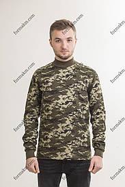 Гольф Военный с начесом Зимний Пограничник