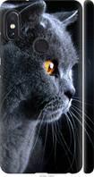 Силиконовый чехол на Xiaomi Redmi Note 5 Pro Красивый кот