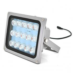 Прожектор уличного освещения YOSO 12V 18W с сумеречным датчиком 15 LED IP66  дальность до 50м