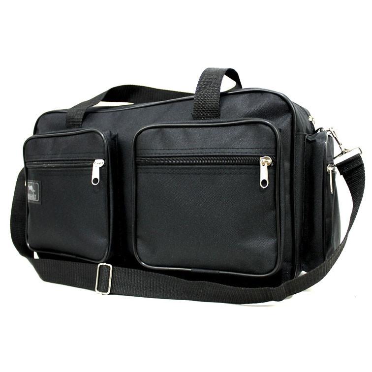 Удобная качественная сумка через плечо Wallaby мужская с накладными карманами черного цвета Размеры: 37х23х16