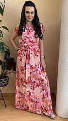 Сукня літня довга в квіти