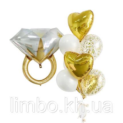 Воздушные шары на девичник с фольгированным кольцом, фото 2