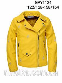 Куртки кожзам для девочек оптом, Glo-story, 122/128-158/164 рр., арт. GPY-1124