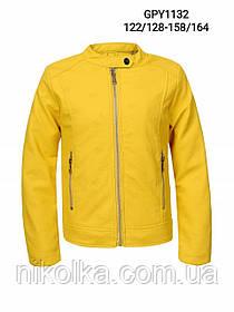 Куртки кожзам для девочек оптом, Glo-story, 122/128-158/164 рр., арт. GPY-1132