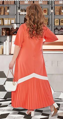 Женское коралловое длинное платье от 50р., фото 2