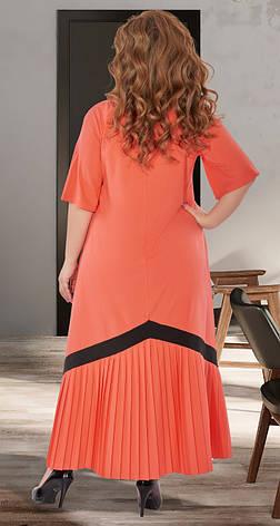 Женское коралловое длинное платье от 50р., фото 3