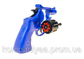 Детский игрушечный револьвер с пистонами 116 (Синий)