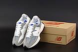 Женские кроссовки New Balance 327 в стиле нью беланс Серые/Белые (Реплика ААА+), фото 6