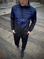Мужская спортивная ветровка Anti-wind синий камуфляж SKL59-259592