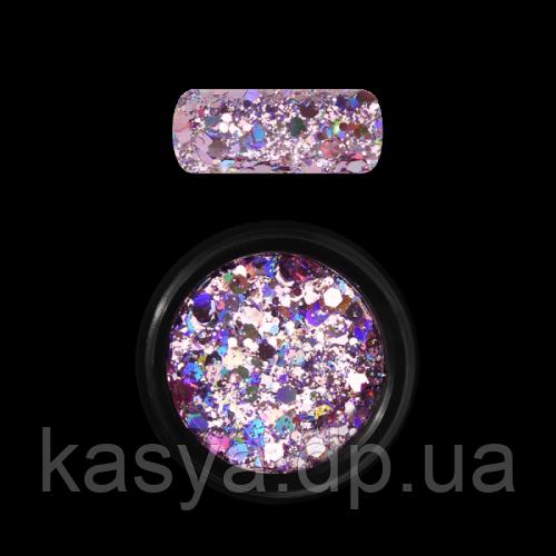 Гліттер голограмний мікс Рожевий №03 / Holo Glitter Mix Rose
