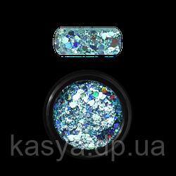 Гліттер голограмний мікс Бірюзовый №04 / Holo Glitter Mix Turquoise