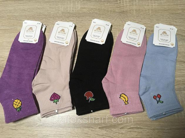 Шкарпетки жіночі, короткі кольорові шкарпетки, фото 1, фото 2