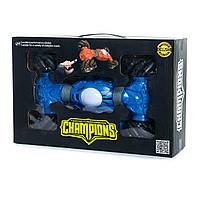 Трюковая машина перевертыш Champion на радиоуправлении, Машина-трансформер 40 см Синяя