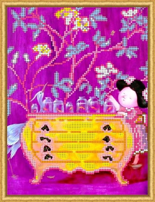 Вышивка бисером, Канва схемы картины детская вышивка Золотые рыбки