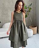 Котоновое платье с двойной юбкой 13-389, фото 5