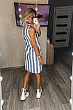 Летнеее лляне плаття в смужку 18-226, фото 8