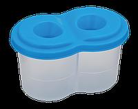 |Стакан -непроливайка подвійний, синій