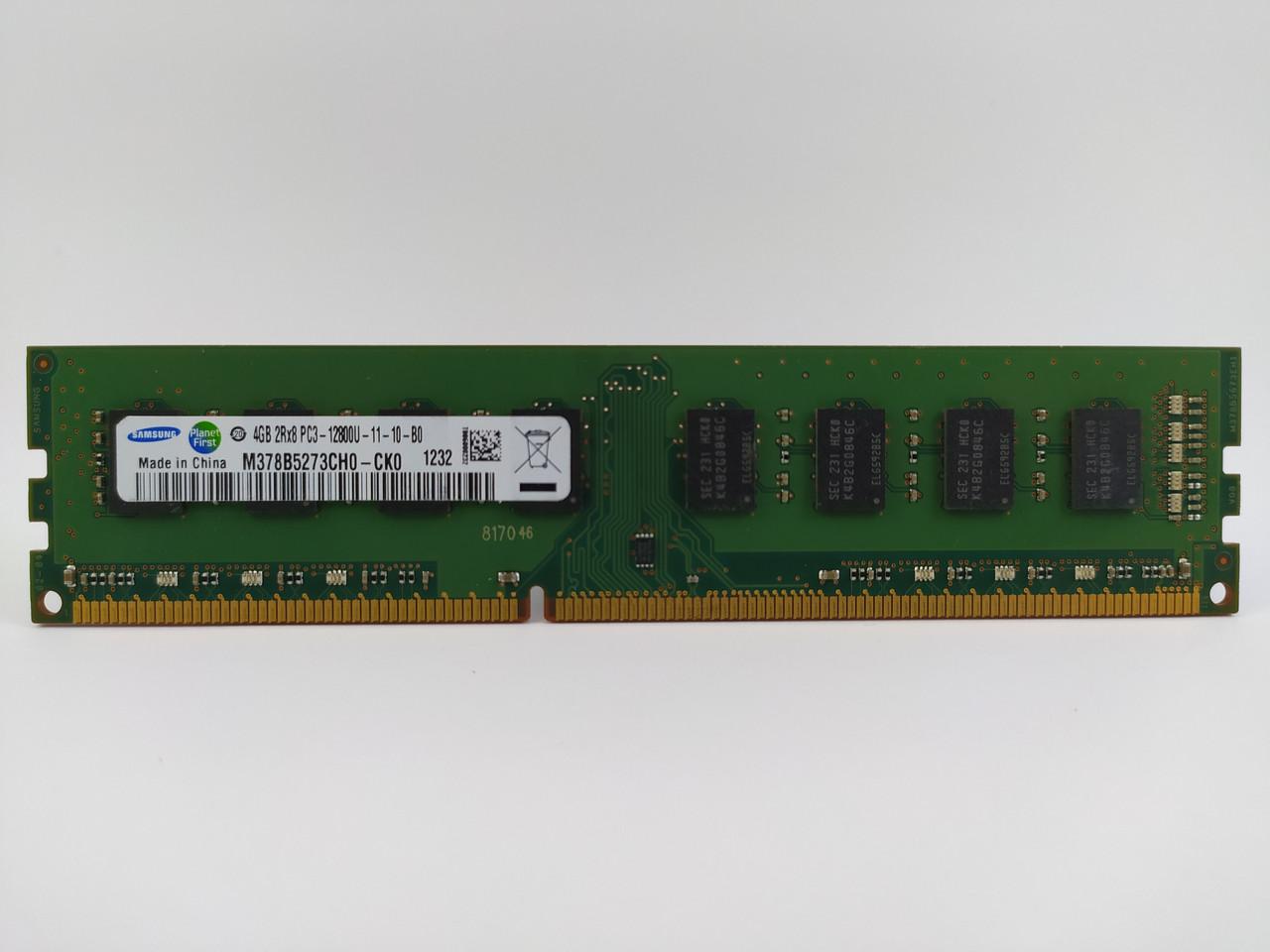 Оперативная память Samsung DDR3 4Gb 1600MHz PC3-12800U (M378B5273CH0-CK0) Б/У