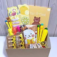 Подарочный набор канцелярии Желтый M