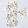 """Евро-пеленка BabySoon на молнии с шапочкой """"Радуга"""" р. 0-6 мес Разноцветный"""