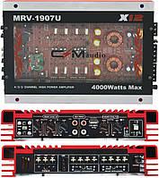 Автомобільний 4-канальний підсилювач звуку CIMaudio MRV-1907 4000W Silver/Red (4833), фото 1