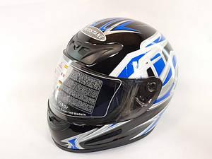 Шлем Musstang качество черный с синим