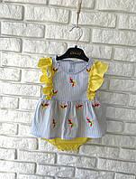 Платье-бодик для девочки 3-18 месяцев
