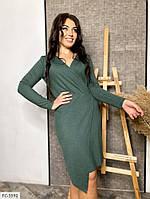 Стильне однотонне плаття з креп-дайвінгу з напиленням з імітацією запаху Розмір: 50-52, 54-56 арт. р41531/1