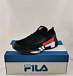 Кросівки FILA Чорні Чоловічі Філа (розміри: 41,42,43,44,45,46) Відео Огляд, фото 8