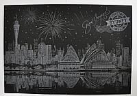 Скретч картина ночного Сиднея