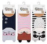 Набір 3 шт. Шкарпетки жіночі укорочені 3D Bross звірятка, фото 3