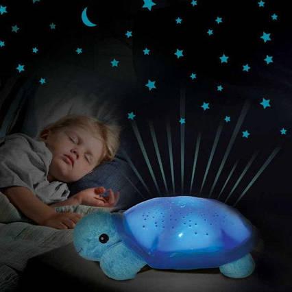 Черепаха-нічник-проектор зоряного неба для дітей Світильник черепашка музична з USB Turtle small