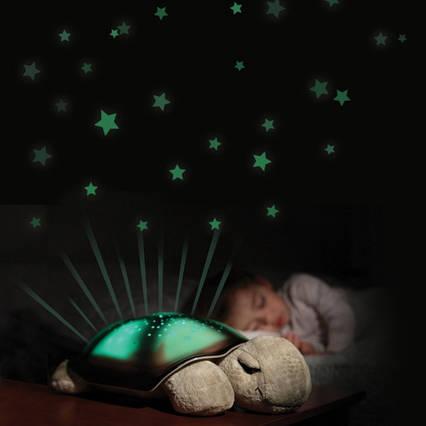 """Нічник-проектор зоряного неба для дітей """"Черепаха"""" музичний з USB Turtle small Зелений (007-MH-7)"""