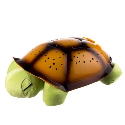 """Нічник-проектор зоряного неба для дітей """"Черепаха"""" музичний з USB Turtle small Корсчневый (007-MH-9)"""
