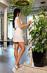 Женский костюм, американский креп - жатка, р-р 42-44; 46-48; 50-52 (белый), фото 4