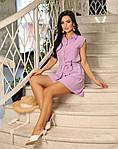 Женский костюм, американский креп - жатка, р-р 42-44; 46-48; 50-52 (лиловый), фото 2