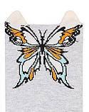 Набор 3 шт. Носки женские укороченные 3D Bross бабочка, фото 2