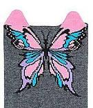 Набор 3 шт. Носки женские укороченные 3D Bross бабочка, фото 4