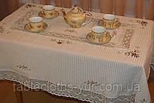 Скатерть лен 100 -150 вафелька