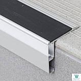 Накладной алюминиевый профиль 126/L/F для защиты ступеней с LED подсветкой 52х62х2700 мм., фото 2