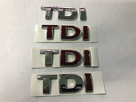 Надпись Tdi Под оригинал, Красная І Volkswagen Passat B5 1997-2005 гг.