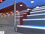 Накладной алюминиевый профиль 126/L/F для защиты ступеней с LED подсветкой 52х62х2700 мм., фото 10