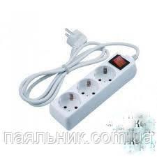Подовжувач електричний 3 м с выкл. и заземлением ( 3 Гн. )3GX1.0MM2